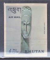 BHUTAN  126 G    *  3 D  STAMP  WOMAN  BY  MODIGLIANI - Sculpture