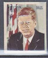 BHUTAN  145   *  3 D  STAMP  JOHN  F.  KENNEDY - Kennedy (John F.)