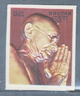 BHUTAN  145 A   *  3 D  STAMP   MAHATMA  GANDHI - Mahatma Gandhi