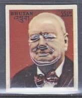 BHUTAN  145 B  See Note On Scan   *  3 D  STAMP   SIR  WINSTON  CHURCHILL - Sir Winston Churchill