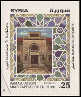 Syria 2008 Damascus-Arab Capital Of Culture Souvenir Sheet Unmounted Mint. - Syrie