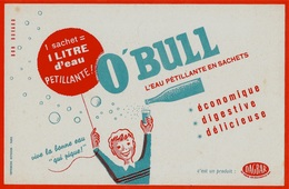 "Buvard O'BULL ""L'Eau Pétillante En Sachets"" - Food"