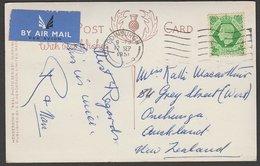 SCOTLAND POSTCARD - NEW ZEALAND HENDERSON'S RP KGVI 7d RATE - 1902-1951 (Rois)