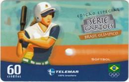 Brazil - BR-TLM-RJ-2359, 16/34 - 3463, Event, Sports, Softball, 60U, 18,735ex, 5/04, Used - Jeux Olympiques