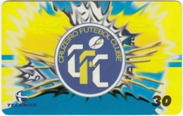 Brazil - BR-BA-0445-28*, Football, Sport, Soccer, Cruzeiro Futebol Clube, Team Logo, 30 U, 30,000ex, 5/00, Used - Brazil
