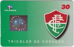 Brazil - BR-BA-0445-28*, Football, Soccer, Carioca Championship, Fluminense, Team Logo, 30 U, 100,000ex, 5/00, Used - Brazil