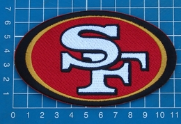 SAN FRANCISCO 49ers NFL SUPERBOWL FOOTBALL LOGO PATCH SEW ON EMBROIDERY - San Francisco 49ers