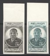 1945 Félix Eboué  Yv 260-1  ** Non-dentelés - Reunion Island (1852-1975)