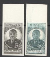 1945 Félix Eboué  Yv 180-1  ** Non-dentelés - Unused Stamps