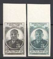 1945 Félix Eboué  Yv 234-5 ** Non-dentelés - India (1892-1954)