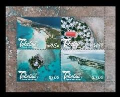 Tokelau 2018 Mih. 531/34 (Bl.73) Tokelau From The Sky MNH ** - Tokelau