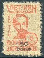 Vietnam 1949 YT 62 (rouge) MNG (*)  Petite Surcharge - Vietnam