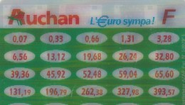 AUCHAN   L'EURO SYMPA  ....CONVERTISSEUR  FRANC EURO - France