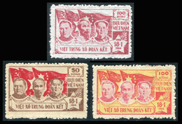 NORD VIETNAM 1954-55  YT N° 75-77 (*)  Mi# 9-11 MNG - Vietnam