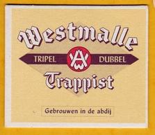 Sous-bock Cartonné - Bière - Belgique - Westmalle - Trappist - Tripel Dubbel - Gebrouwen In De Abdij - Beer Mats