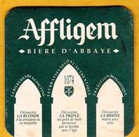 Sous-bock Cartonné - Bière - Belgique - Affligem - Bière D'Abbaye - Blonde Triple Brune - Beer Mats