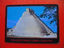 """TEMPLO DEL ADIVINO En Uxmal,Yucatan.MAGICIAN""""S TEMPLE,Uxmal - Mexico"""
