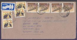 Birds, Postal History Cover From ZIMBABWE, Used 1990 - Zimbabwe (1980-...)