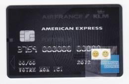 Carte Air France / KLM / American Express - Platinium - Factice 2012 (fausse Puce) - Avions
