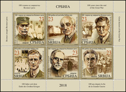 Serbia 2018. 100 Years Since The End Of The Great War, Great Doctors оf The Great War, Booklet, MNH - Medizin