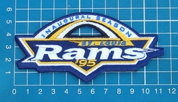 ST. LOUIS RAMS FOOTBALL NFL SUPERBOWL PATCH INAUGURAL SEASON SEW EMBROIDERED - St. Louis Rams