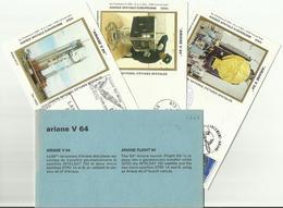 Lancement Fusée ARIANE V63 - 24/01/1994 - Pochette Lancement CNES - 4 Documents - CENTRE SPATIAL GUYANAIS - ESPACE - FDC & Gedenkmarken