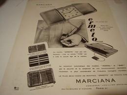 ANCIENNE PUBLICITE MONTRE ERMETO DE MARCIANA  1930 - Autres