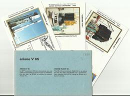 Lancement Fusée ARIANE V65 - 08/07/1994 - Pochette Lancement CNES - 4 Documents - CENTRE SPATIAL GUYANAIS - ESPACE - FDC & Gedenkmarken