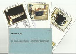Lancement Fusée ARIANE V66 - 10/08/1994 - Pochette Lancement CNES - 4 Documents - CENTRE SPATIAL GUYANAIS - ESPACE - FDC & Gedenkmarken