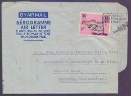 SINGAPORE Postal History, Snake Aerogramme Used 1971 With Slogan Postmark - Singapore (1959-...)