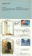 Lancement Fusée ARIANE V67 - 09/09/1994 - Pochette Lancement CNES - 3 Documents - CENTRE SPATIAL GUYANAIS - ESPACE - FDC & Gedenkmarken
