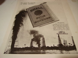 ANCIENNE PUBLICITE DU PUIT DE PETROLE AU BIDON  SHELL 1930 - Transports