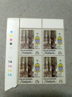 Malaysia 1986 1995  Agricultural Agro Penang Corner Block 4 15c Rubber P12 Wmk Upright Mnh With Margin 1A 1A - Malaysia (1964-...)