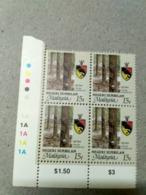 Malaysia 1986 1995  Agricultural Agro Negri Negeri Sembilan Corner Block 4 15c Rubber P12 Wmk Upright Mnh Margin 1A 1A - Malaysia (1964-...)