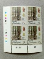 Malaysia 1986 1995  Agricultural Agro Pahang Corner Block 4 15c Rubber P12 Wmk Upright Mnh Margin 1A 1A - Malaysia (1964-...)