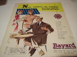 ANCIENNE PUBLICITE NOUS HABILLONS LES HOMMES  BAYARD 1957 - Habits & Linge D'époque