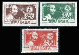 NORD VIETNAM 1954  YT N° 80 A-B-F (*)  Mi# 15-17 MNG - Vietnam