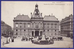 Paris Mairie Du 19ème Caleches Devant 1906 ( Très Très Bon état) --1736) - District 19