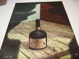 ANCIENNE AFFICHE PUBLICITE COGNAC COURVOISIER 1957 - Alcools