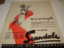 ANCIENNE PUBLICITE MOI TRANQUILLE  SOUS VETEMENT SCANDALE 1957 - Habits & Linge D'époque