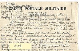 Carte Correspondance Militaire 1916 / Mayence / Prisonnier, Conditions De Vie / A. MARMET 78 ème Rég Infanterie - 1914-18