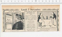 2 Scans Humour De 1904 Concierge Métier Couturière Couture Réparation Vêtements Pantalons Homme Manchot 223S - Non Classés