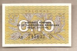 Lituania - Banconota Non Circolata FdS Da 0,10 Talonas P-29b - 1991 - Lituanie