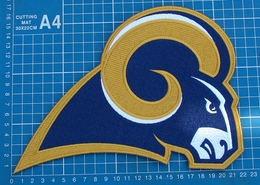 """ST. LOUIS RAMS FOOTBALL NFL SUPERBOWL LOGO PATCH HUGE 9"""" JERSEY EMBROIDERED - St. Louis Rams"""