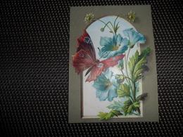 Chromo ( 6911 )  1 Chromos Sans Publicité ( Zonder Reklame )  Carte Mignonette  Gaufrée  Reliëf Papillon - Zonder Classificatie