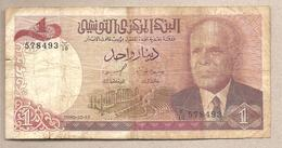 Tunisia - Banconota Circolata Da 1 Dinaro P-74 - 1980 - Tunisie