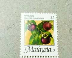 Malaysia 1986 2000  Fruits Mangosteen $1 Corner P12 Wmk Upright Mnh - Malaysia (1964-...)