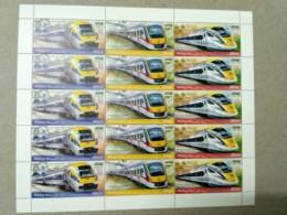 Malaysia 2018 Electric Train Service ETS Full Sheet MNH Sheetlet  Setenant Strip Pairs Se-tenant Unissue - Malaysia (1964-...)