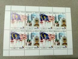 Malaysia 2018 Celebration National Day Flag  Full Sheet MNH Sheetlet  Setenant Strip Pairs Se-tenant Unissue - Malaysia (1964-...)
