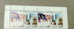 Malaysia 2018 Celebration National Day Flag  Set MNH Sheetlet  Setenant Strip Pairs Se-tenant Unissue - Malaysia (1964-...)